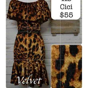 LuLaRoe SZ M Velvet Cici Dress Cheetah NWT